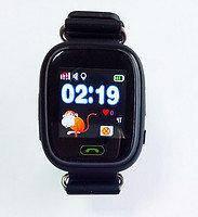 Детские умные часы с gps трекером Q100 черные