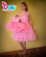 Платье Руж розовое