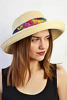 Шляпа Мадейра желто-бежевая
