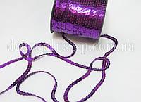 Пайетки на нити 6мм, фиолетовые