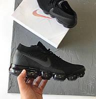 Женские кроссовки Nike VaporMax black. Живое фото. Топ качество (найк вапормакс)