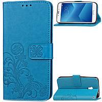 Чехол Clover Meizu M5 Note книжка синий женский, фото 1