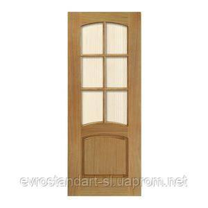 Дверное полотно Каприз браун стекло 800