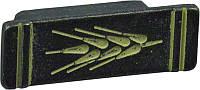 WPO222.032.00C2 Ручка мебельная РГ 54 черная бронза+молочная патина накладная кнопка - металлическая Италия GIUSTI