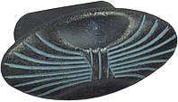 WPO503.000.00C3 Ручка мебельная РГ 56 черная бронза+голубая патина накладная кнопка - металлическая Италия GIUSTI