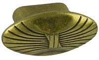 WPO503.000.00D1 Ручка мебельная РГ 212 старое золото накладная кнопка - металлическая Италия GIUSTI