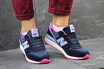 Женские кроссовки New Balance 996 синие с розовым 36р, фото 2
