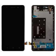 Дисплей для мобильного телефона Huawei Honor 4C, черный, с передней панелью, с сенсорным экраном, original (PRC)