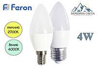 Светодиодная лампа Feron LB-720 C37 4W ЭКО-СЕРИЯ