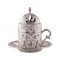 Чашка для кофе Sena Серебристый ажур
