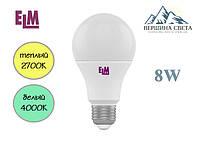 Светодиодная лампа 8W ELM E27 A60