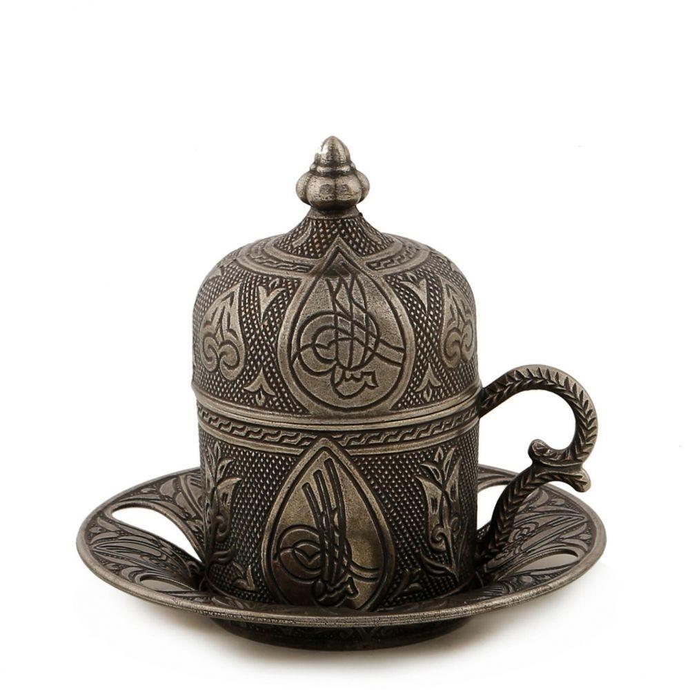 Чашка для кофе Темно-серый ажур