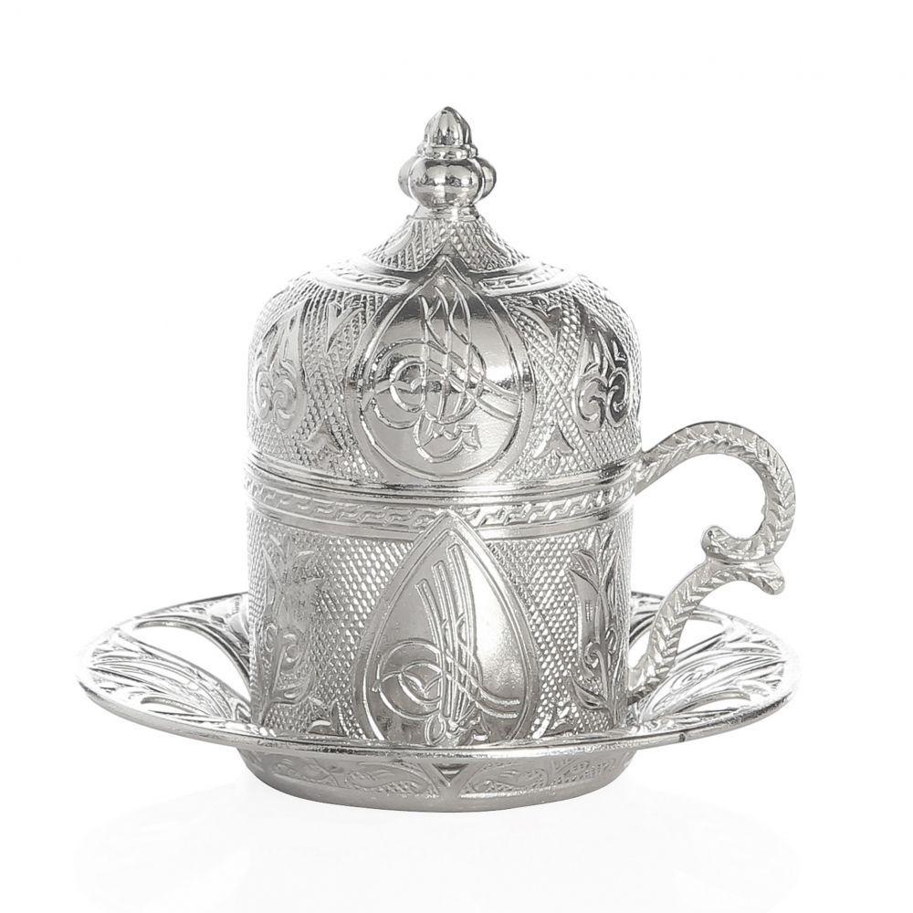 Чашка для кофе Серебристый ажур