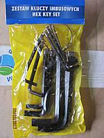 Набор Г-образных ключей шестигранников 10 предметов 1.5-10 мм TOYA