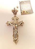 Крест с распятием серебряный, вес 23 грамма.