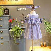 Модное летнее платье для девочки с повязкой на голову