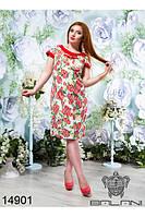 Элегантное коктейльное платье большого размера  50-56
