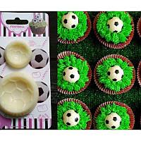 Оттиск - вырубка для мастики Футбольные мячи, набор из 2