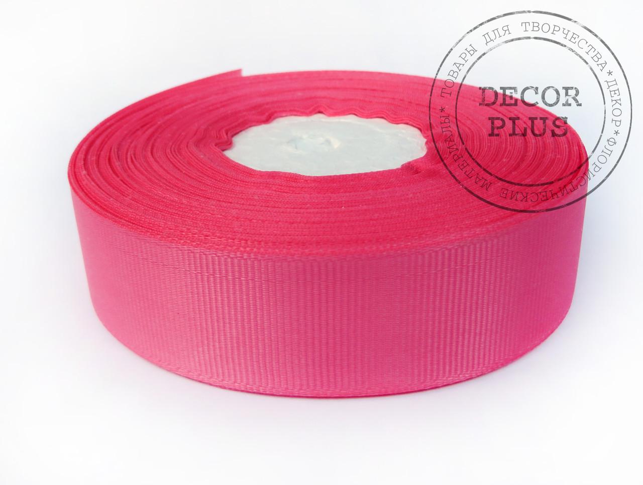 Лента репсовая 2,5см розовая