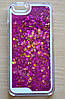 Чехол пластиковый на айфон 6/6S с блестками переливающимися