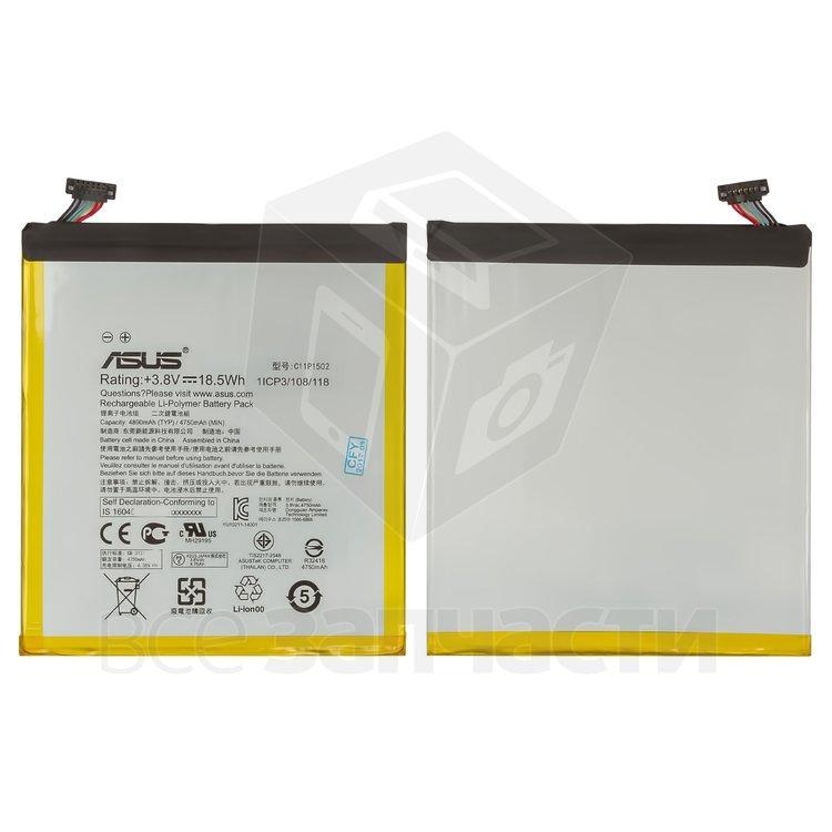 Аккумулятор для планшетов Asus ZenPad 10 Z300CG, Li-Polymer, 3,8 В, 4750 мАч, #C11P1502