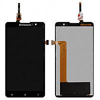 Дисплей (LCD) Lenovo S8 S898/ S898T+ с сенсором чёрный