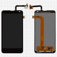 Дисплей для мобильных телефонов Nous NS 5; Fly IQ4514 Quad EVO Tech 4, черный, с сенсорным экраном