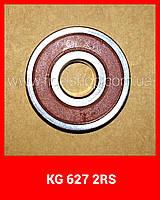 Шариковый радиальный подшипник, однорядный, 627 2RS KG