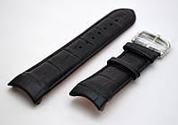 Ремешок к часам TISSOT, кожаный, матовый, анти-аллергенный, цвет черный, фото 1