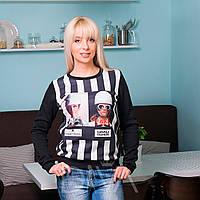 Модная кофта женская на байке Арт.HS-119