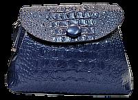 Сумка женская GALANTY из натуральной кожи на плечо синего цвета под крокодила GGD-816744