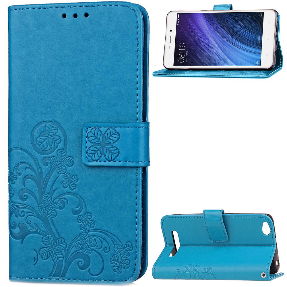 Чехол Clover для Xiaomi Redmi 4a книжка голубой женский