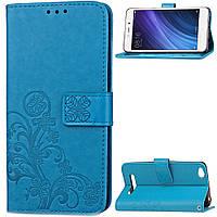Чехол Clover для Xiaomi Redmi 4a книжка голубой женский, фото 1