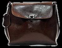 Классическая женская сумочка из натуральной кожи коричневого цвета UBN-066904