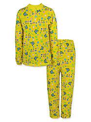 Детская пижама с начесом на девочку в расцветках, р.110,122,128