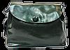 Женская сумочка из натуральной кожи с пуговицей темно-зеленого цвета GIM-060087