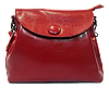 Женская сумочка из натуральной кожи с пуговицей красного цвета GIM-060099