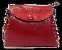 Женская сумочка из натуральной кожи с пуговицей красного цвета GIM-060099, фото 1