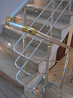 Алюминиевые перила круглые с леерами