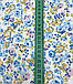 Хлопковая ткань польская цветы голубые, фото 2
