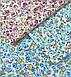Хлопковая ткань польская цветы бирюзовые, фото 4
