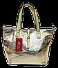 Модная женская сумочка золотистого цвета TRD-084355