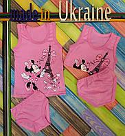 Комплект нижнего белья для девочек, трикотажный,  размер 80/86, 86/92, 92/100, 104/110, 110/116 см