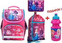 """Комплект. Рюкзак школьный каркасный """"трансформер"""" Princess dream K17-500S-1 + пенал + сумка, ТМ """"Kite"""""""