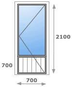 Металлопластиковая дверь  ALMplast (044) 331-12-86