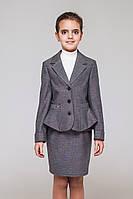 Школьный костюм для девочки.Пиджак и юбка. Размер 128- 158
