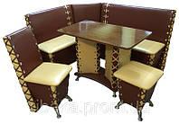 Кухонный уголок Мустанг стол, стул и пуф