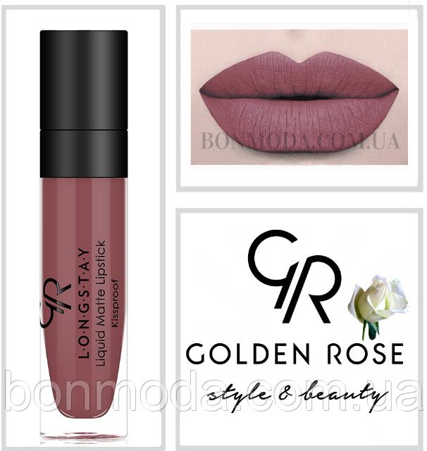 Матовая стойкая жидкая помада Golden Rose Longstay liquid Matte № 20