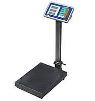 Весы  торговые до 100 кг Crystal, электронные складные, усиленная стойка и платформа 30*40