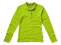 """Рубашка поло """"Point"""" женская с длинным рукавом, зеленое яблоко"""